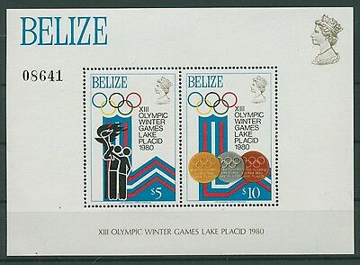 Belize 1979 Olympiade Lake Placid Block 12 postfrisch (C22505)