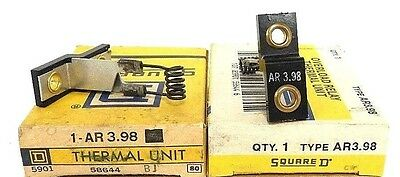 Lot Of 2 Nib Square D Ar3.98 Thermal Overload Relays Ar398