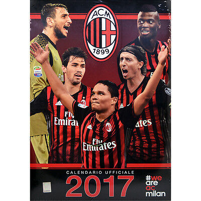Official Licensed Football Product AC Milan Calendar 2017 Italian Gift Wall New