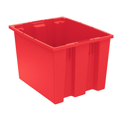Akro-Mils Nest & Stack Tote 35195 Red 19-1/2 x 15-1/2 x 13  6 pk