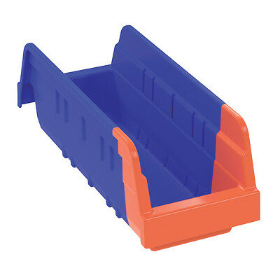 Akro-Mils Indicator Bin 36442 Blue/Orange 11-5/8 x 4-1/4 x 4  24 pk