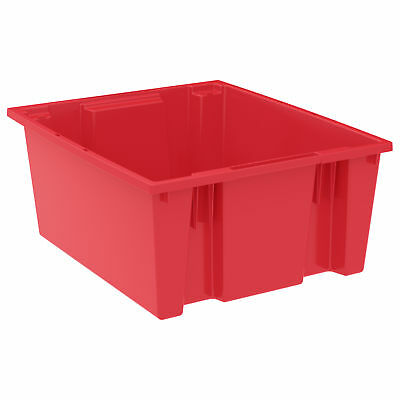 Akro-Mils Nest & Stack Tote 35225 Red 23-1/2 x 19-1/2 x 10  3 pk