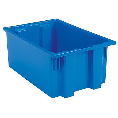 Akro-Mils Nest & Stack Tote 35190 Blue 19-1/2 x 15-1/2 x 10  6 pk