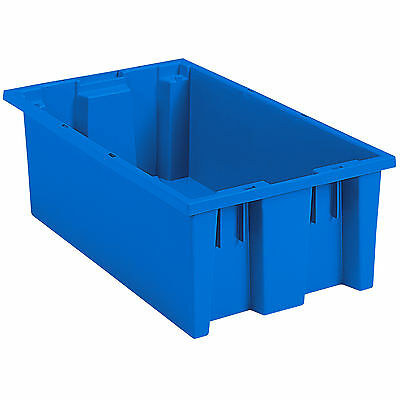 Akro-Mils Nest & Stack Tote 35180 Blue 18 x  11 x 6  6 pk