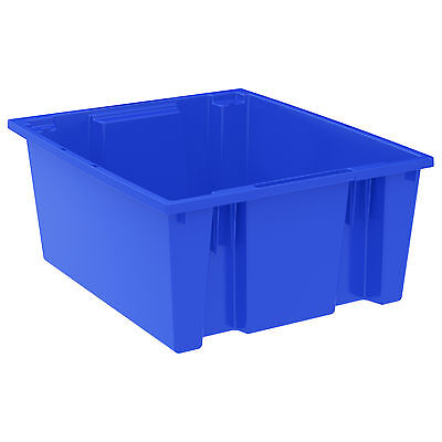 Akro-Mils Nest & Stack Tote 35225 Blue 23-1/2 x 19-1/2 x 10  3 pk