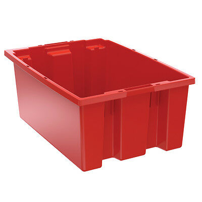 Akro-Mils Nest & Stack Tote 35200 Red 19-1/2 x 13-1/2 x 8  6 pk