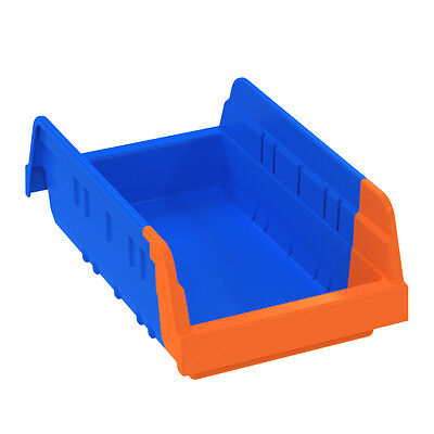Akro-Mils Indicator Bin 36462 Blue/Orange 11-5/8 x 6-3/4 x 4  12 pk