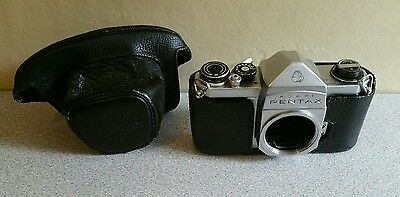 Asahi Pentax Spotmatic S1A body with original case. Untested - priced to suit