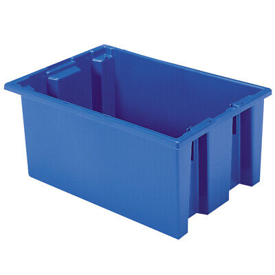 Akro-Mils Nest & Stack Tote 35200 Blue 19-1/2 x 13-1/2 x 8  6 pk