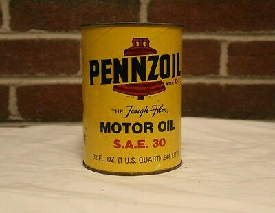 Vintage 1-Qt pennzoil SAE 30 cardboard oil can