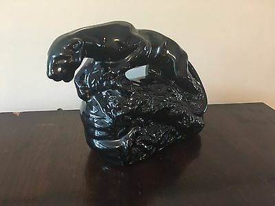 Beautiful vintage black panther tv television lamp 1950's