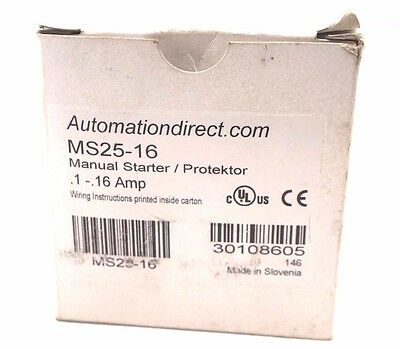 New Automation Direct Ms25-16 Manual Starter Ms2516