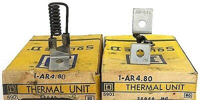 Lot Of 2 Nib Square D Ar4.80 Thermal Unit 58646, 1-Ar4.80