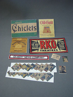 Mini-Craft, Flyerville Newsstand Sign Assortment for American Flyer