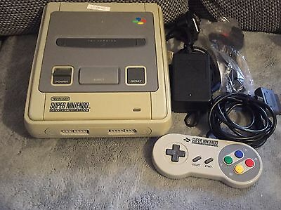 Super Nintendo SNES Console With Wires & Controller Bundle (1)