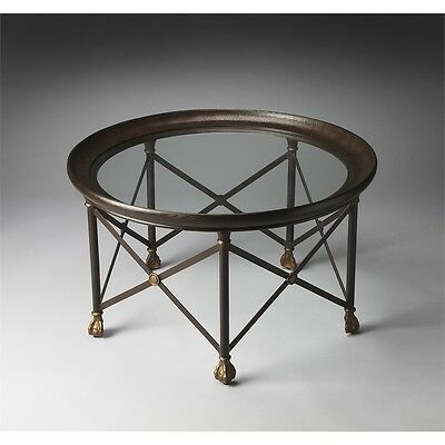 Butler Richton Glass And Metal Cocktail Table, Metalworks