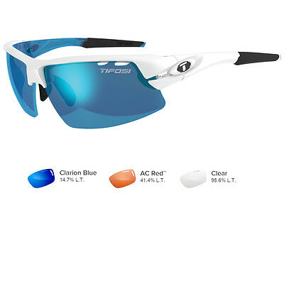 Tifosi Crit Interchangeable Skycloud Sunglasses Clarion Blue/AC Red™/Clear