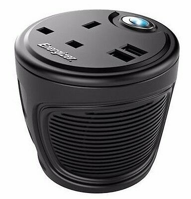 Energizer 12V 120W Cup Holder Inverter  50600B Camping Laptop Phone Charger 230V