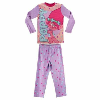 Trolls Dreamworks Girls 2PC Pjs Pyjamas Set - Age 8 Years