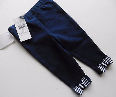 baby girls leggings  RALPH LAUREN navy with bows 9 months 70-74cms new tags