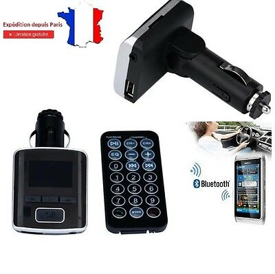 Transmetteur FM Bluetooth Lecteur MP3 Mains Libres USB Chargeur iphone samsung x