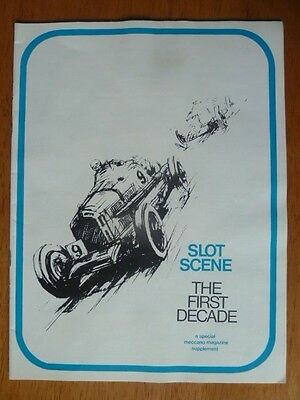 """Vintage Original Slot Car Racing Booklet """"The First Decade"""" 1966"""