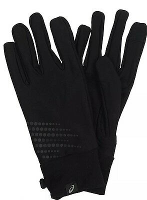 Asics Basic Gloves For Running Walking Touch Screen Compatible Reflective New