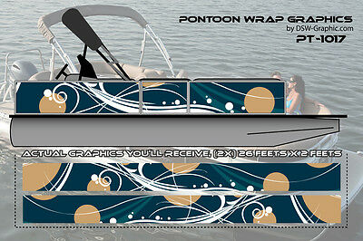 **NEW AND UNIQUE** DIY WRAPPING Pontoon wrap graphics decal stickers PT1017