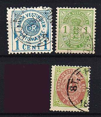 DANISH WEST INDIES 3 nice stamps VF used