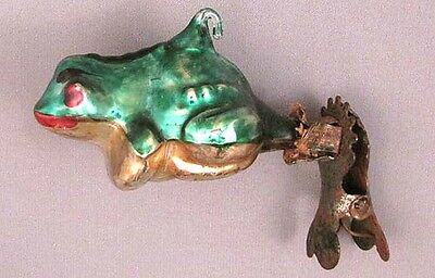 Christmas Tree Decoration Frog Russian Ornament Glass Soviet Vintage Old XMAS