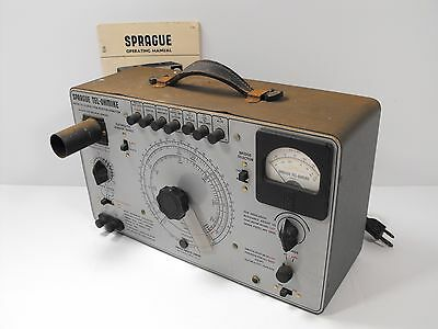 Sprague Model TO-4 Capacitor Analyzer & Resistance Bridge +Orig Manual POWERS ON