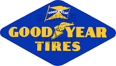 4 Inch Vintage Style Good Year Tire Decal Sticker Several Sizes Available