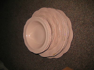 15 J&G Meakin 'Rosa' plates and bowls (sol 391413)