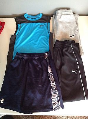 Boys Size Small Lot of 4 Athletic Shorts Pants Shirt Nike Under Armour