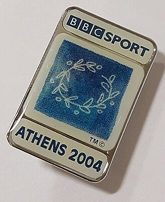 BBC Sport TV Official 'ATHENS 2004' Olympic Games  Pin Badge Pins Greece 04