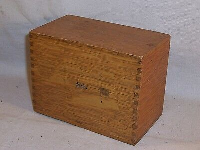 Vintage Globe Wernicke Index File Recipe Library Card Finger Joint Box Desk