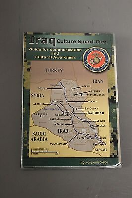 Military Iraq Culture Smart Card Guide for Communication & Cultural Awareness