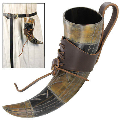 Medieval Renaissance Mead of Poetry Feasting Hall Drinking Horn