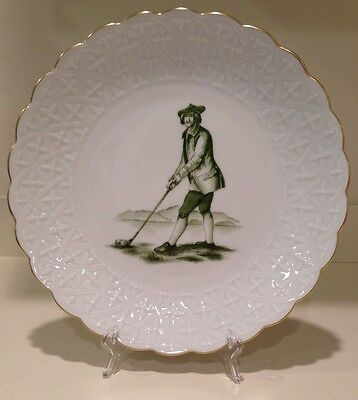 Hochst Hand-Painted Porcelain Large Golf Plate Made in Germany New