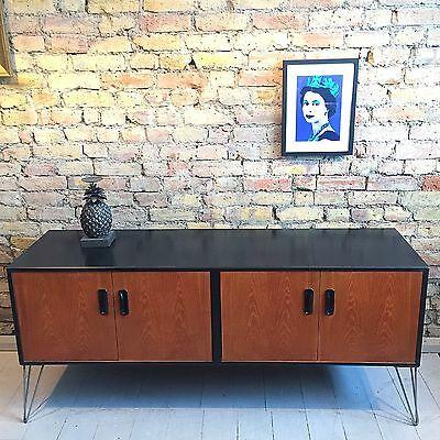 Upcycled Vintage Retro Gplan Sideboard Tv Cabinet Mid Century Hairpin Legs