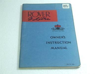Rover 3 Litre Owner's Instruction Manual
