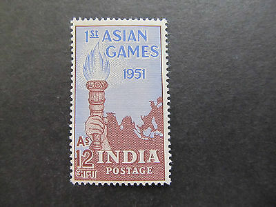 1951 - India - Torch And Map - Scott 234 A103 12A