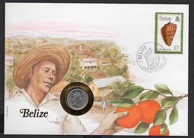 Belize 1981 5 Cents Coin Cover