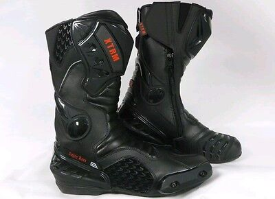Xtrm Core Motorbike Motorcycle Racing Sports Armour Boots All Black Size Uk 6