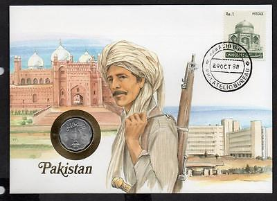 Pakistan 1988 Coin Cover