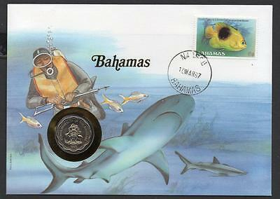 Bahamas 1987 10 Cents Coin Cover