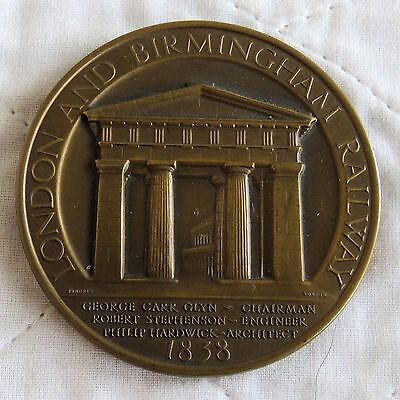 1938 LONDON AND BIRMINGHAM RAILWAY 64mm BRONZE CENTENARY MEDAL - BY PINCHES