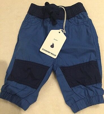 COUNTRY ROAD Baby Boy Spliced Pants ~ Size 000 (0-3 months) Blue