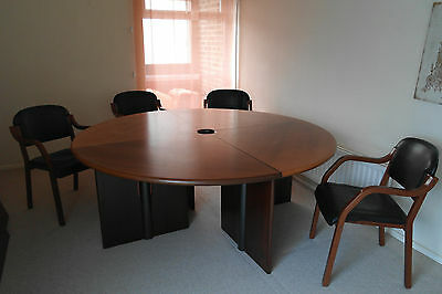 Focal Point and Dramatic Large circular meeting table