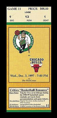 1997 Boston Celtics v Chicago Bulls Ticket 12/3/97 Jordan 29 Pts 27683